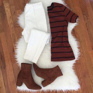 Theory Treeca Mod Twill white cropped pixie pants